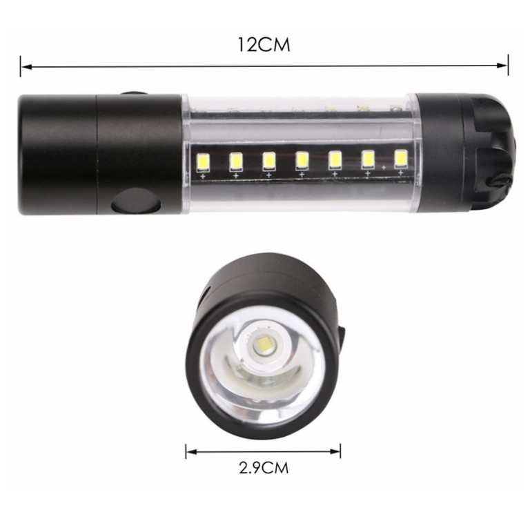 Rechargeable SMD Flashlight with 6 Flash Modes,18650 Rechargeable Battery